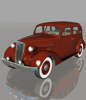 CHEVROLET 1937 4DOOR (for VUE) 3D Models Software Nationale7