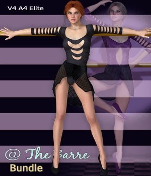 @ The Barre Bundle - V4-A4-Elite & Lace Lingerie II 3D Figure Essentials 3D Models nirvy