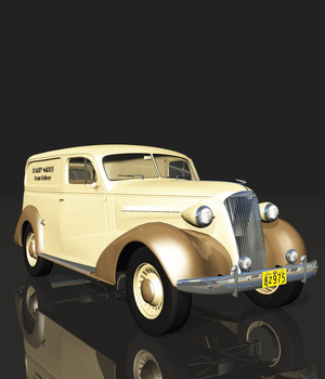 CHEVROLET 1937 DELIVERY (for VUE) 3D Models Ourias3D