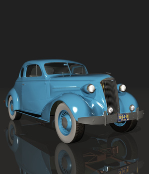 CHEVROLET 1937COUPE (for VUE) 3D Models Ourias3D