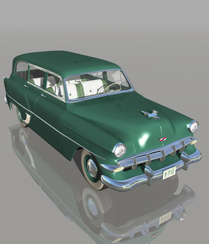 CHEVROLET 1954 STATION WAGON (for VUE) Software 3D Models Nationale7