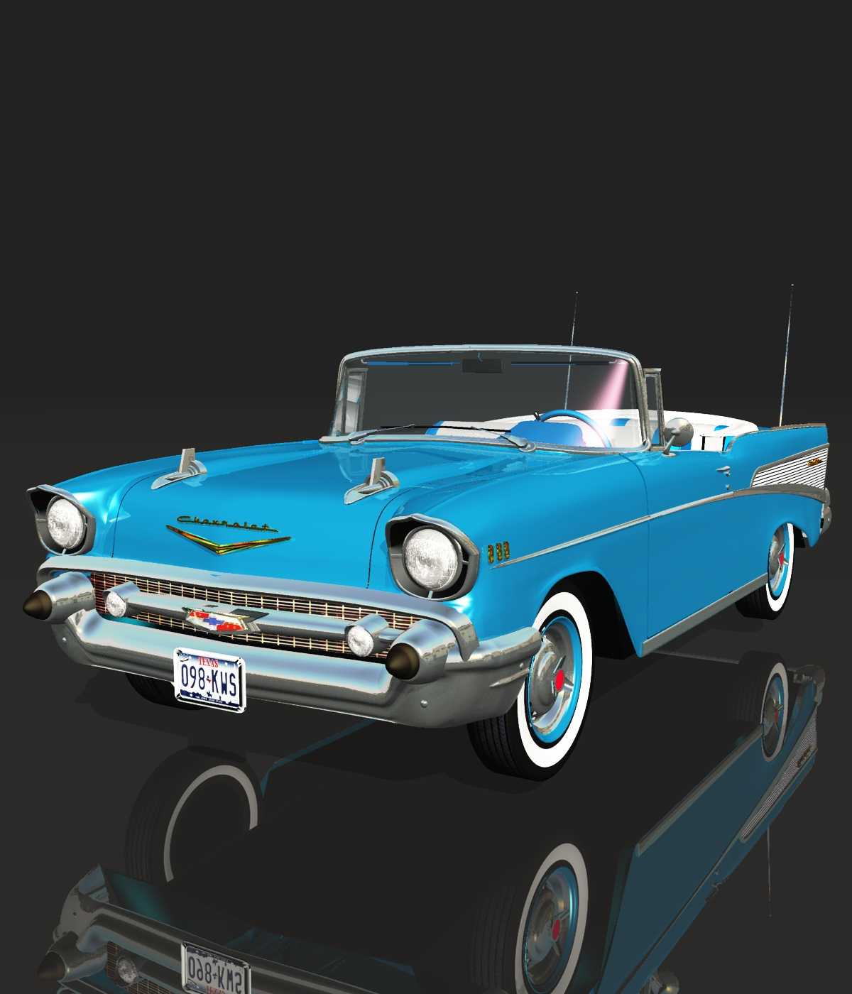 chevrolet bel air 1957 for vue 3d models 3dclassics. Black Bedroom Furniture Sets. Home Design Ideas