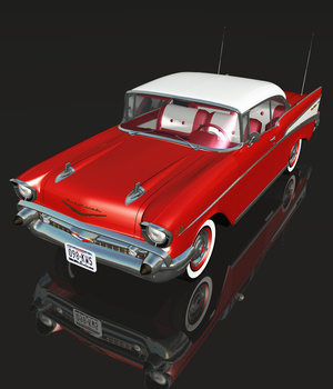 CHEVROLET BEL AIR HARD TOP 1957 (for VUE) 3D Models Nationale7