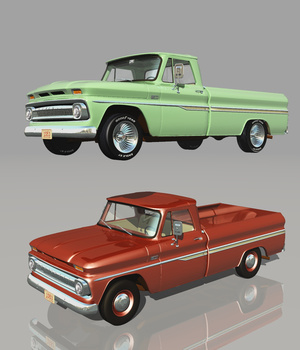 CHEVROLET C10 1965 (for VUE) 3D Models Nationale7