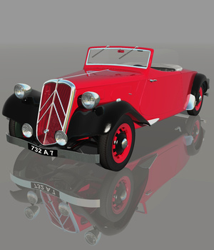 CITROEN 11 CABRIOLET 1938 3D Models Software Nationale7