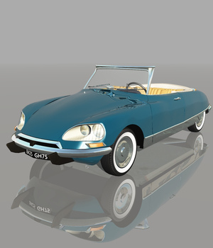 CITROEN DS21 CABRIOLET (for VUE) 3D Models Software Nationale7