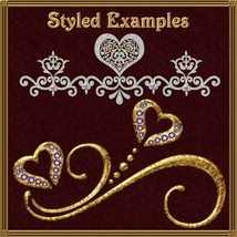 Hearts, Swirls, Dots & Curls Brushes and png Files Pack image 6