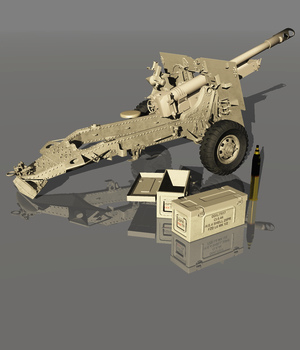 HOWITZER 25 pdr 1943 (for VUE) 3D Models Software Nationale7