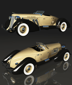 AUBURN 851 SPEEDSTER (for VUE) 3D Models Software Nationale7