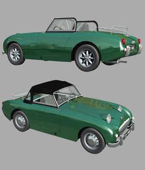 AUSTIN HEALEY FROGEYE (for VUE) 3D Models Nationale7