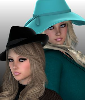 Beau Chapeau for Genesis 2 Females 3D Figure Essentials WildDesigns