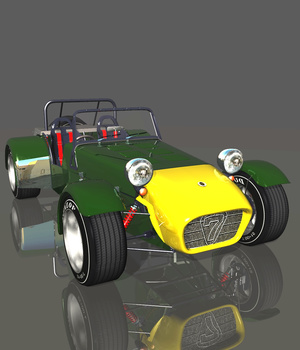 CATERHAM 7 1980 (for VUE) 3D Models 3DClassics