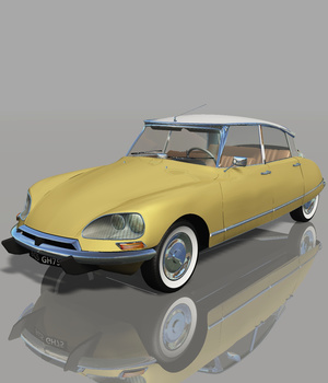 CITROEN DS21 berline (for VUE) 3D Models Software Nationale7