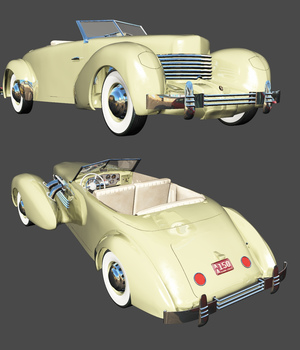 CORD 812 SC (for VUE) 3D Models 3DClassics