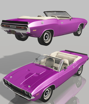 DODGE CHALLENGER CONVERTIBLE 1970 (for VUE) 3D Models Software Nationale7