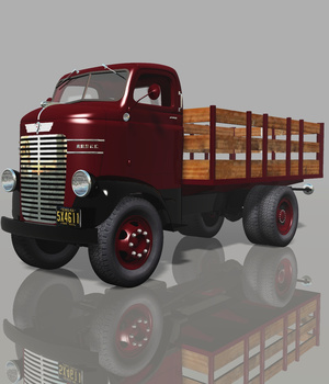DODGE COE STAKE BED (for VUE) 3D Models Software Nationale7