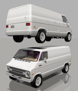 DODGE STREET VAN 1976 (for VUE) 3D Models Software Nationale7