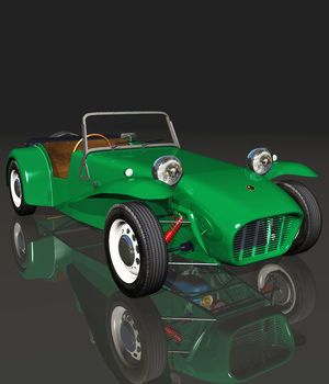 LOTUS SEVEN 1961 (for VUE) Software 3D Models Nationale7