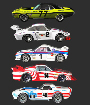 1970-1982 RACE CARS BUNDLE (for VUE) 3D Models 3DClassics