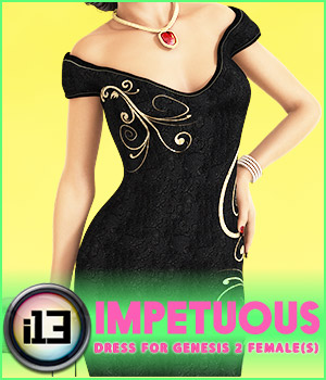 i13 3ds impetuous dress for G2F 3D Figure Essentials ironman13