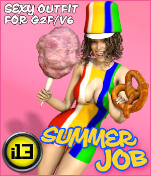 i13 Summer Job Outfit for G2F 3D Figure Assets ironman13