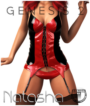 Natasha's Bustier Set for Genesis 2 Female(s)