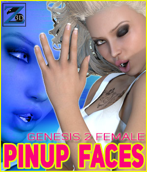 Z PinUp Faces - G2F/V6 3D Figure Essentials Zeddicuss