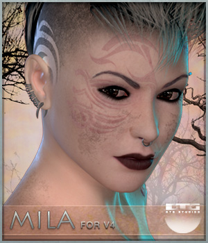 DTG Studios' Mila for V4 3D Figure Essentials DTHUREGRIF