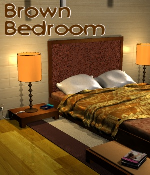Brown bedroom - Extended License 3D Models Gaming greenpots