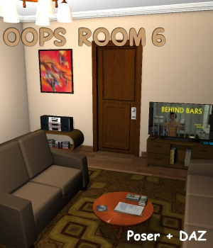 Oops Room6 - Extended License Gaming 3D Models greenpots