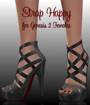 Strap Happy for Genesis 2 Females 3D Figure Essentials WildDesigns