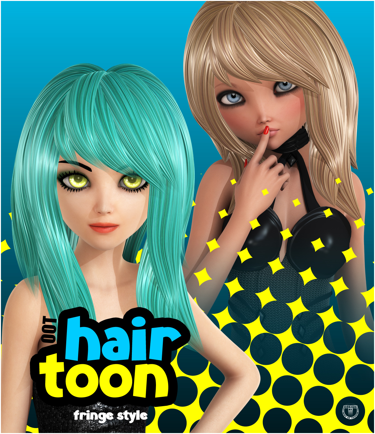 OOT Toon Hair: Fringe Style for Genesis 2 Female(s)byoutoftouch()