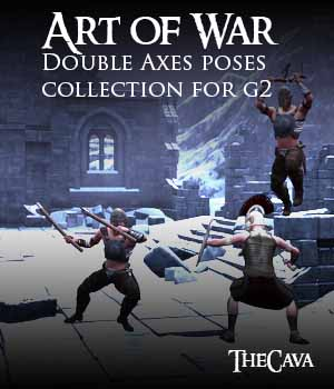 Art of War - The Ultimate Double Axes Poses for Genesis2 3D Figure Assets TheCava