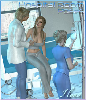 Hospital Room Poses - V4-M4/G2F-G2M 3D Figure Essentials Software ilona