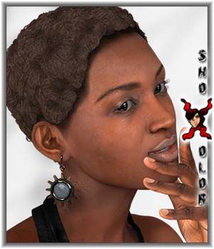 ShoXoloR for Omri Hair 3D Figure Essentials ShoxDesign
