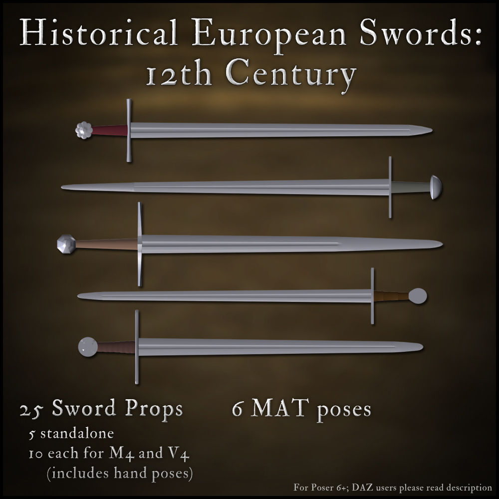 Historical European Swords: 12th Century - Extended License by gmm2