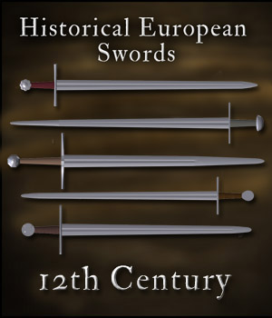 Historical European Swords: 12th Century - Extended License 3D Models Gaming gmm2