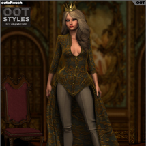 ROYAL STYLES for Centigrade Dress for Genesis 2 Female(s) image 1