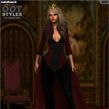ROYAL STYLES for Centigrade Dress for Genesis 2 Female(s) image 2