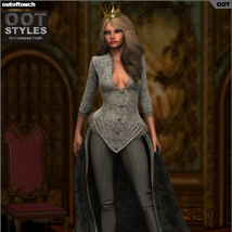 ROYAL STYLES for Centigrade Dress for Genesis 2 Female(s) image 3