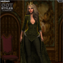 ROYAL STYLES for Centigrade Dress for Genesis 2 Female(s) image 4