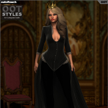ROYAL STYLES for Centigrade Dress for Genesis 2 Female(s) image 5