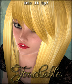 Touchable Toon Hair: Fringe Style 3D Figure Assets -Wolfie-