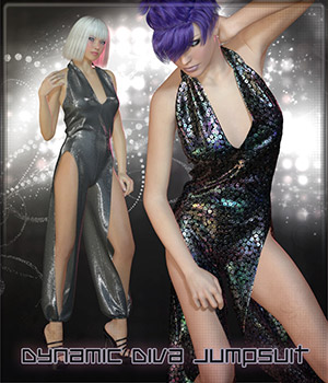 Dynamic Diva Jumpsuit 3D Figure Assets Frequency