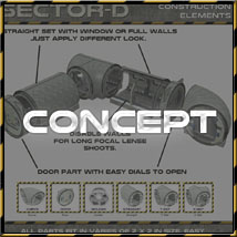 Ship Elements D1: Corridor Construction Set image 1