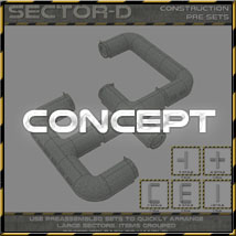 Ship Elements D1: Corridor Construction Set image 2