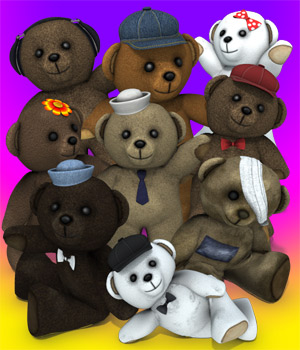 Band of Bears 3D Figure Assets 3D Models coflek-gnorg