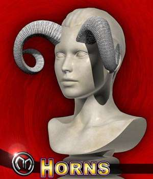 MM Horns 3D Figure Assets 3D Models mix_mash