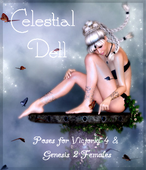 Celestial Dell for V4 & G2F 3D Figure Assets -dragonfly3d-