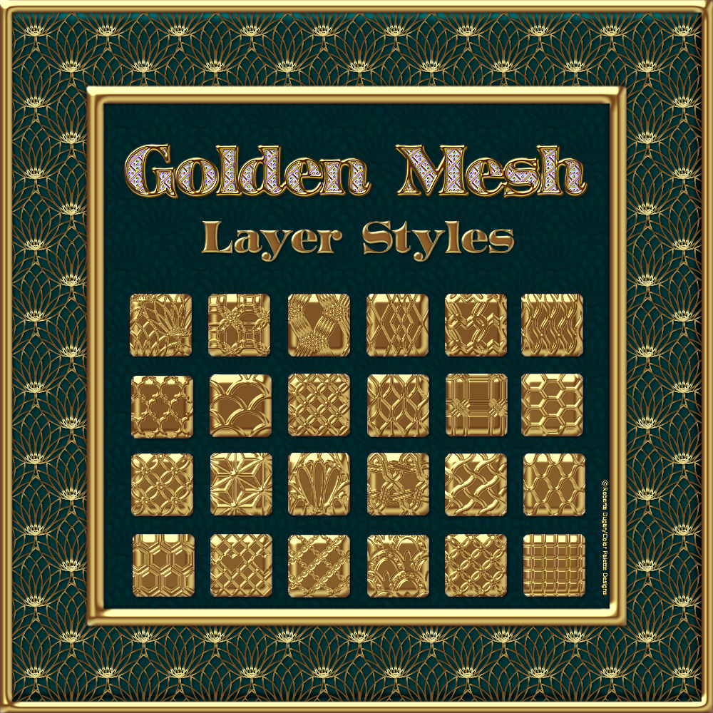 Golden Mesh Layer Styles by fractalartist01